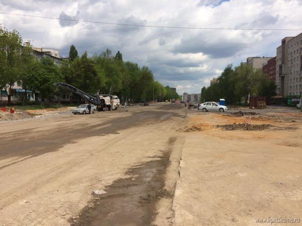 В Липецке продолжается реконструкция проспекта Победы (видео)