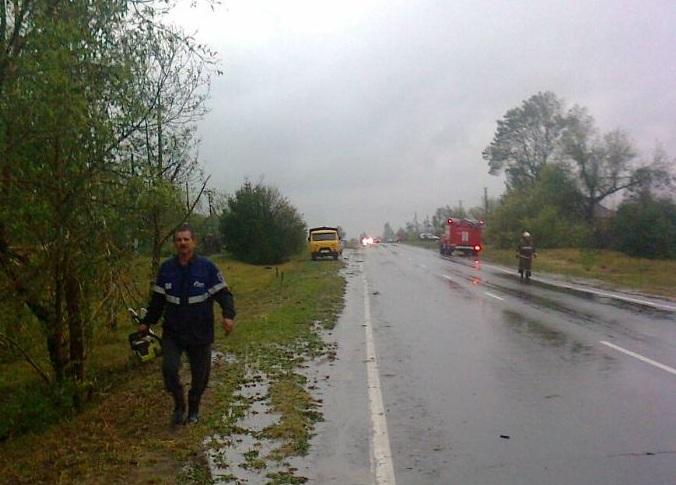 ВЛипецкой области смерч снес крыши домов иоставил без света село