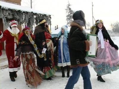 Святки в Вислой Поляне, Тербунский район. Эфир от 16 января 2013 года