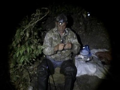 Ночная рыбалка. Ловим язя